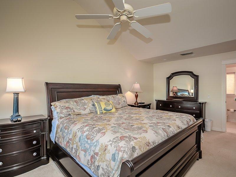 Cama, dormitorio, muebles, pantalla, TV
