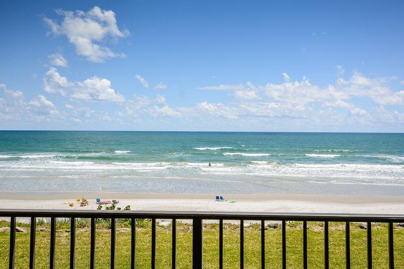 Breathtaking views of the car free beach!
