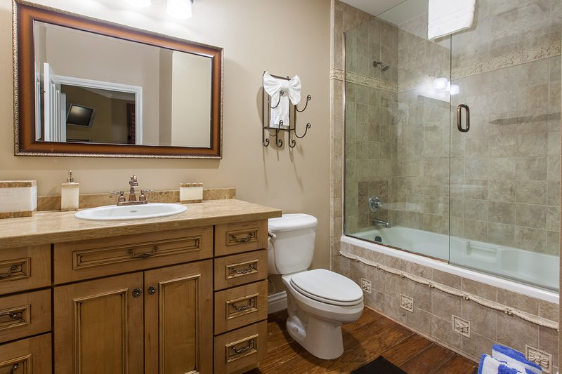 Full Master Bathroom with tub/shower a & granite countertops