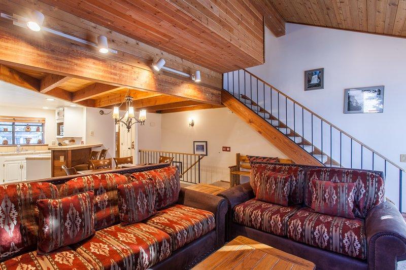 Living Room,Flat Screen TV, Wood Burning Fireplace