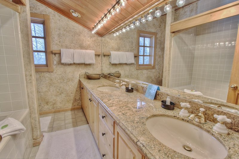 Grand Master Suite Private Bath with Tub and Shower, Dual Sinks