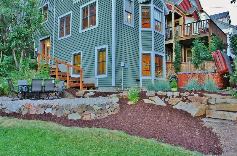 Park City Ontario Manor - exterior view, hot tub, back yard, and patio seating