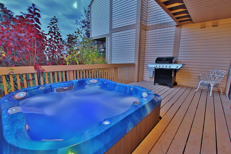 Hot Tub on Back Deck in Park City Racquet Club Village - Park City