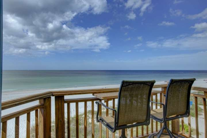 Sit out on your balcony and gaze at the beach and beautiful Gulf water