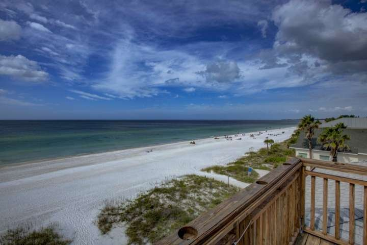Walk outside your condo to the beautiful view of the beach and Gulf of Mexico