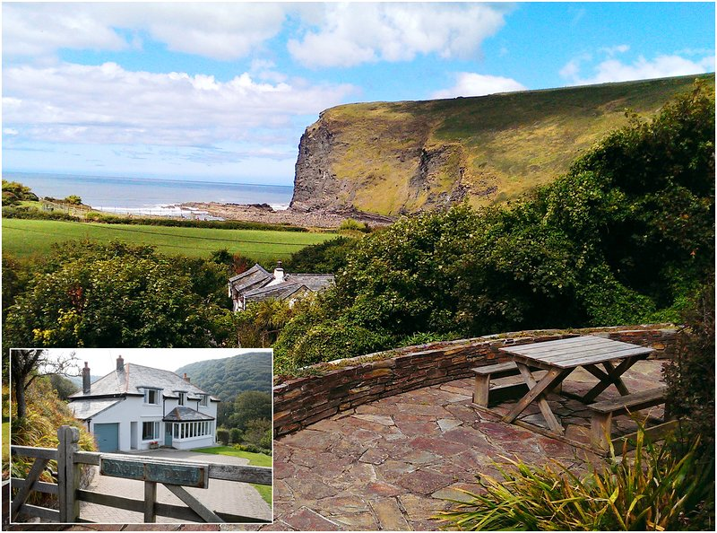 Dingley Dell Wonderful house with views to sea -, vacation rental in Crackington Haven