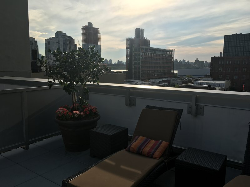 Rooftop sunset