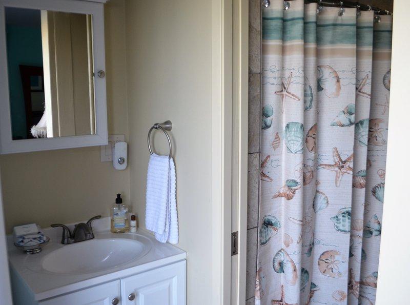 New built bathroom with nice tiles
