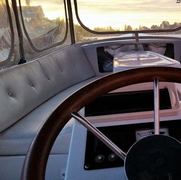 Be your own captain on our electric boat and cruise the lagoon waterways