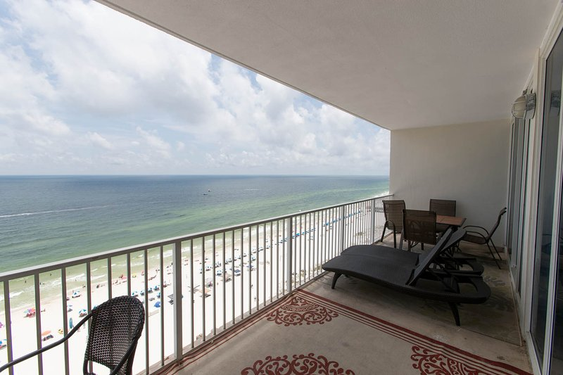 balcony access from living room and master bedroom