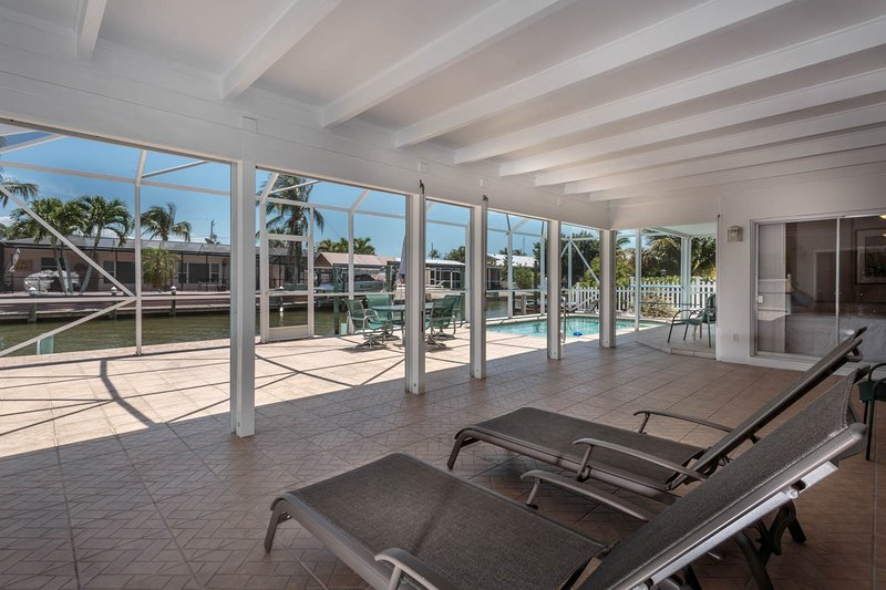 Relax in the Huge Screened in Pool Lanai!