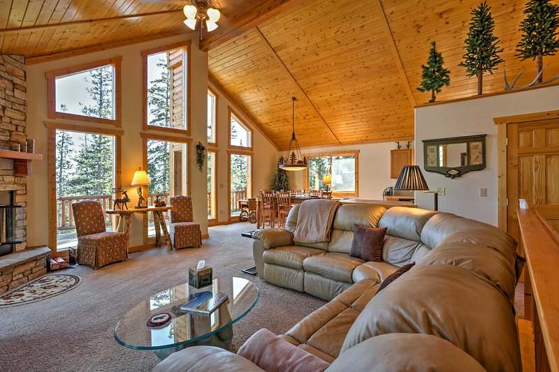 The cozy living room is an excellent place to unwind after a long day.