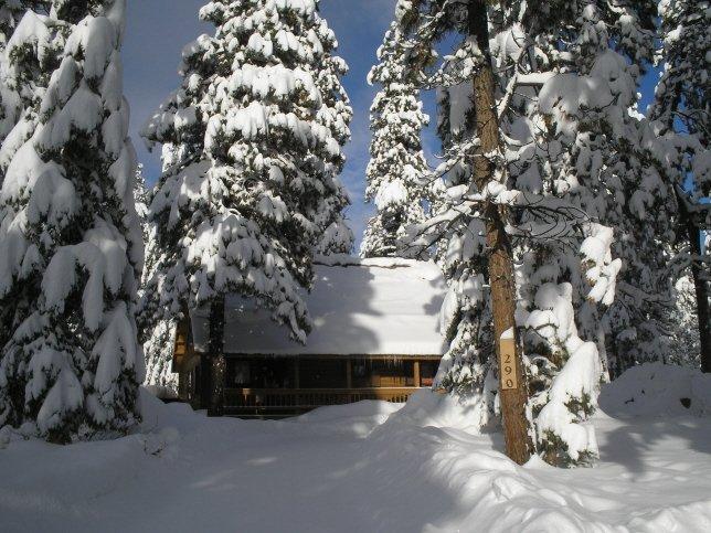Mackey Log Cabin in a Winter Wonderland
