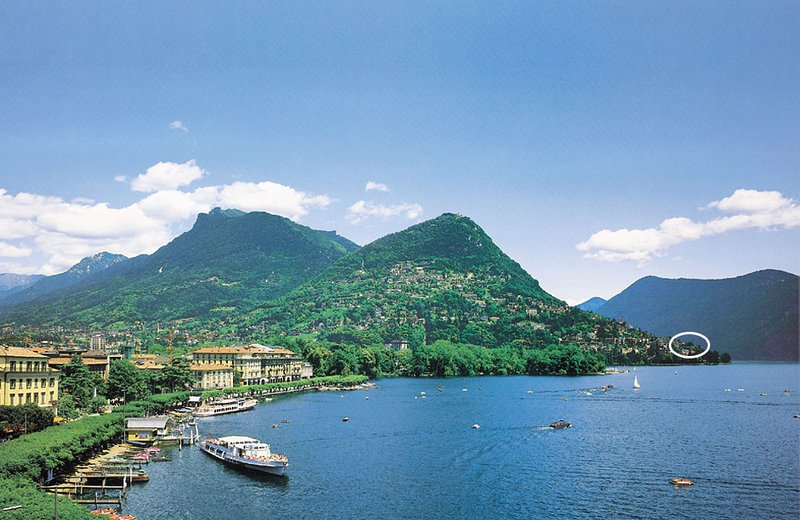 lake Lugano with view on Monte Brè with the Barony