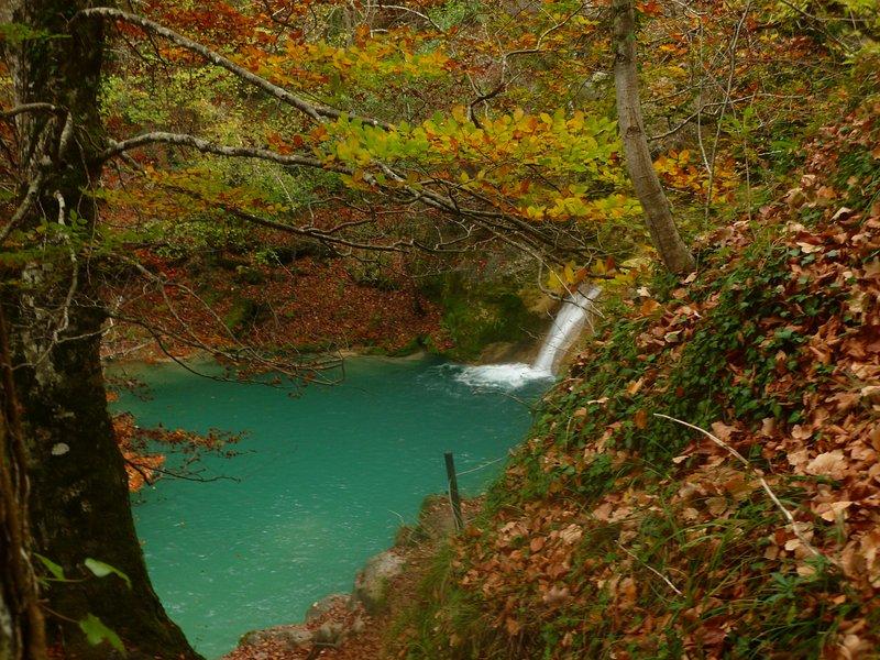 Nacedero del Urederra en otoño Navarra