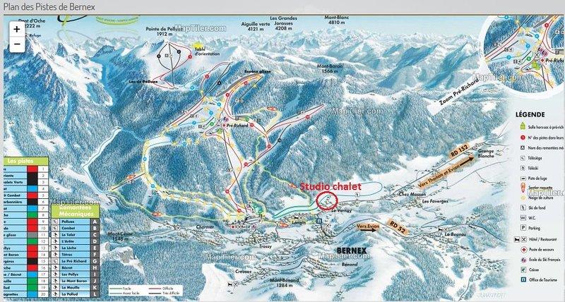 Ski slopes at 5 min (drive).