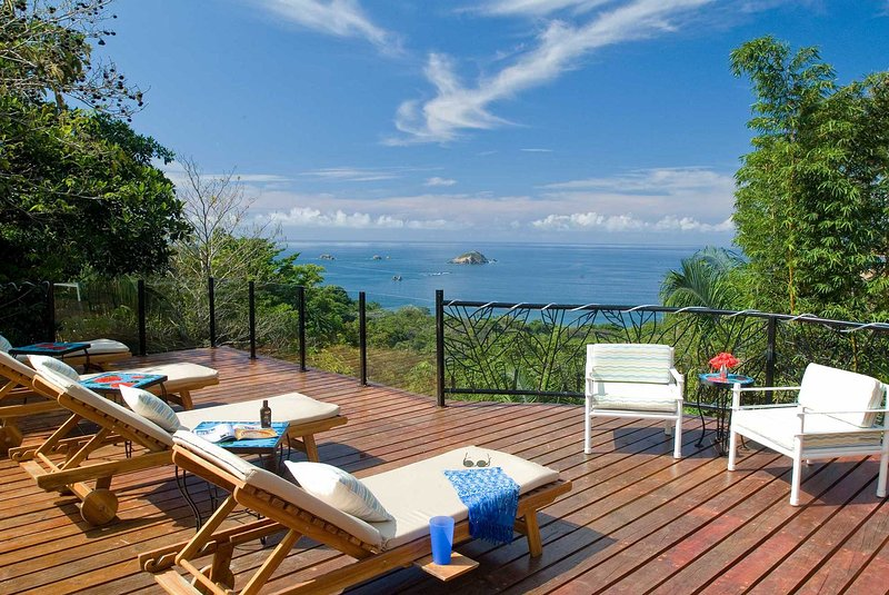 The villa has an incredible rooftop sun deck with an amazing ocean view