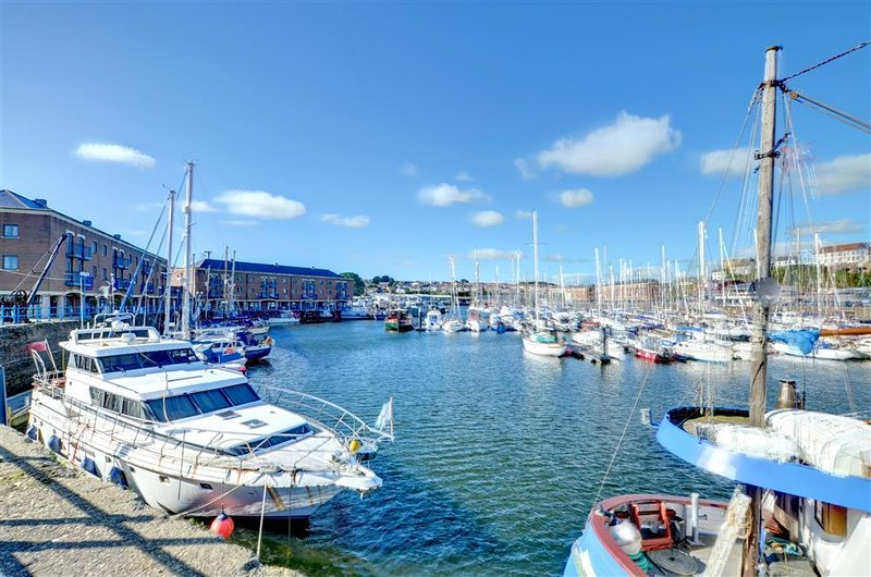 14 Neptune House is on the first floor in a super position on the marina at Milford Haven