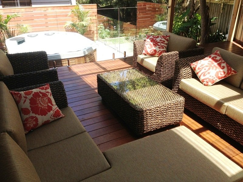 Alfresco met verwarmde outdoor spa