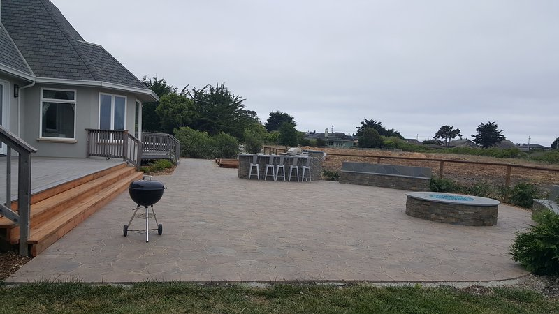 Newly completed backyard
