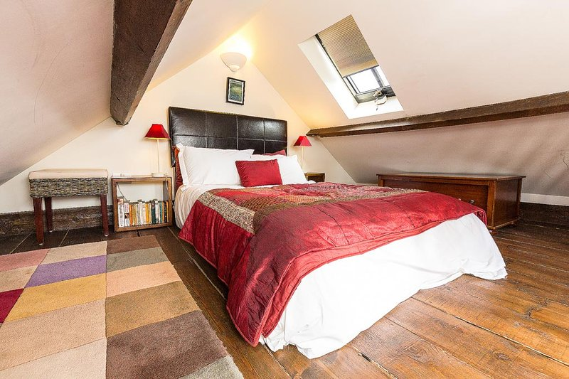The double bedroom in the eaves