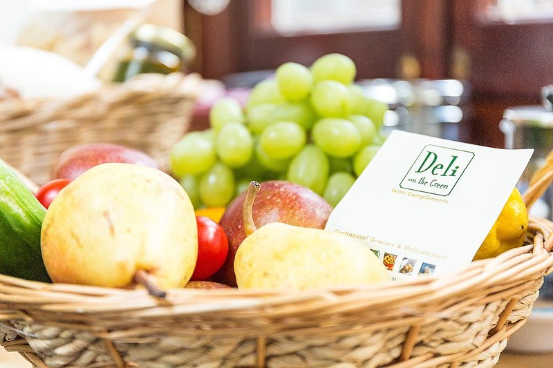 Fruit and vegetables can be bought at Deli-om-the-Green