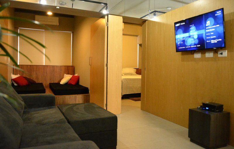 very comfortable room with cooling, cable TV and wi-fi.