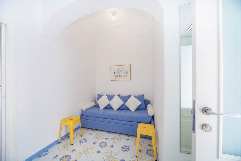 sofá cama para 2 camas individuales o 1 cama doble en la misma habitación