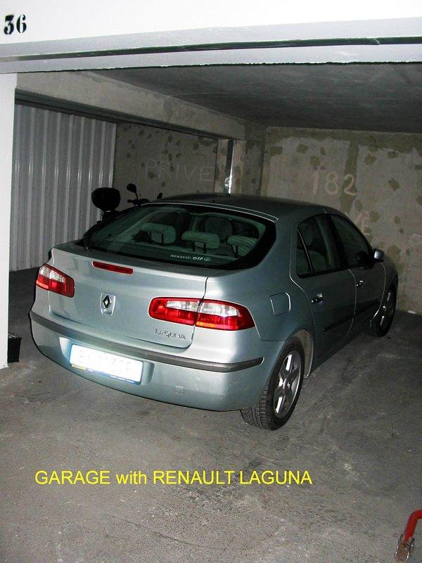 L'espace de stationnement dans le parking souterrain