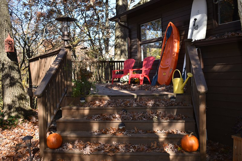 Walk up to deck in the Fall