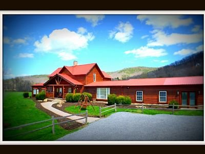 Beautiful Log Cabin Nestled on 7 flat acres in Quite Wears Valley ( Ask about winter special 20% off
