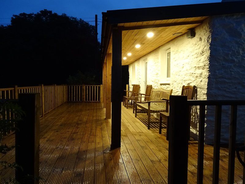 The deck at night