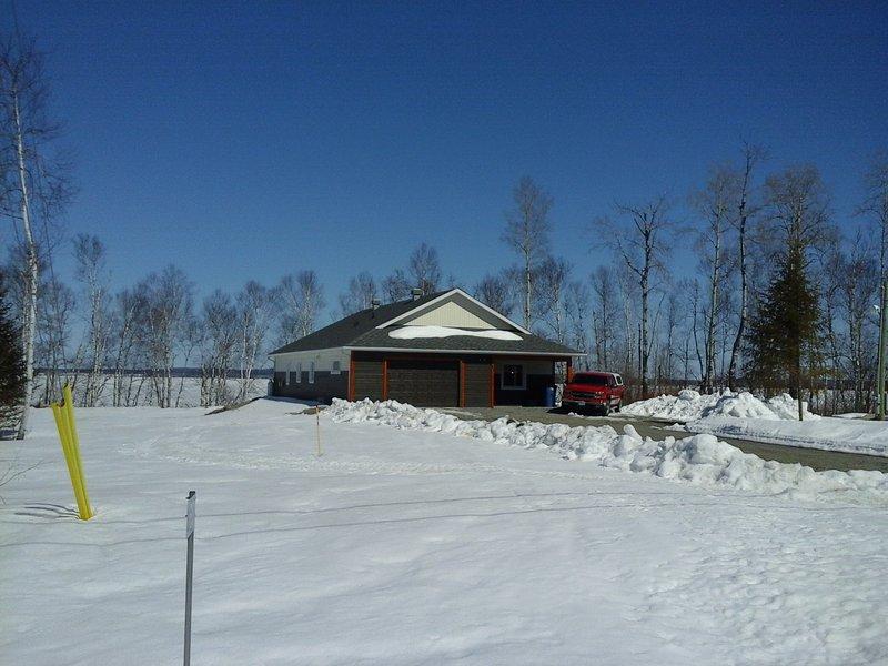 Avant de la propriété de la route. paysages d'hiver.
