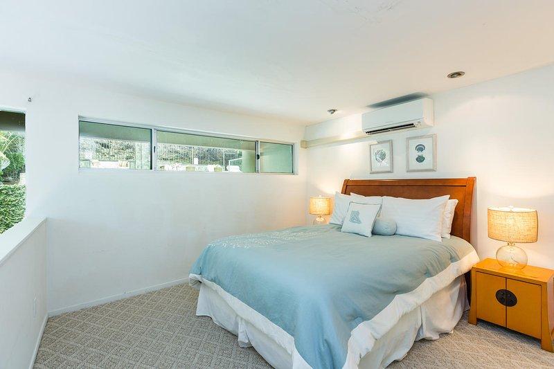 Cottage loft bedroom, on the second level.