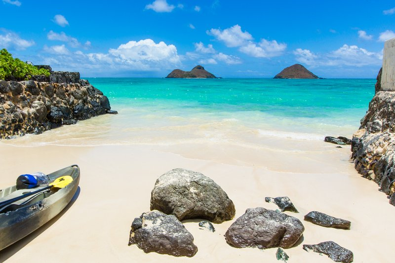Lanikai Beach, just a short walk from the house.