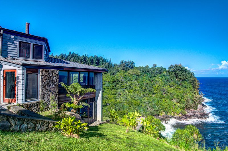 Perched on the cliffside of Waipunalei on the Big Island