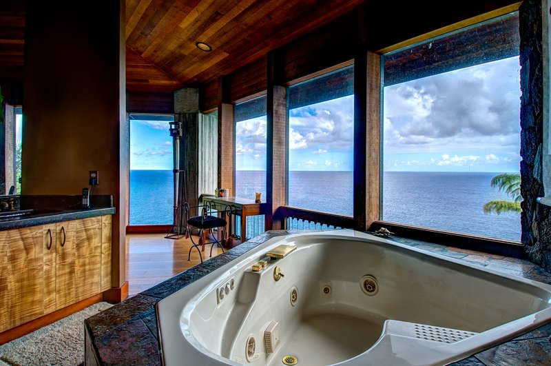 Enjoy Ocean Views from the Spa Tub in the Master Bedroom