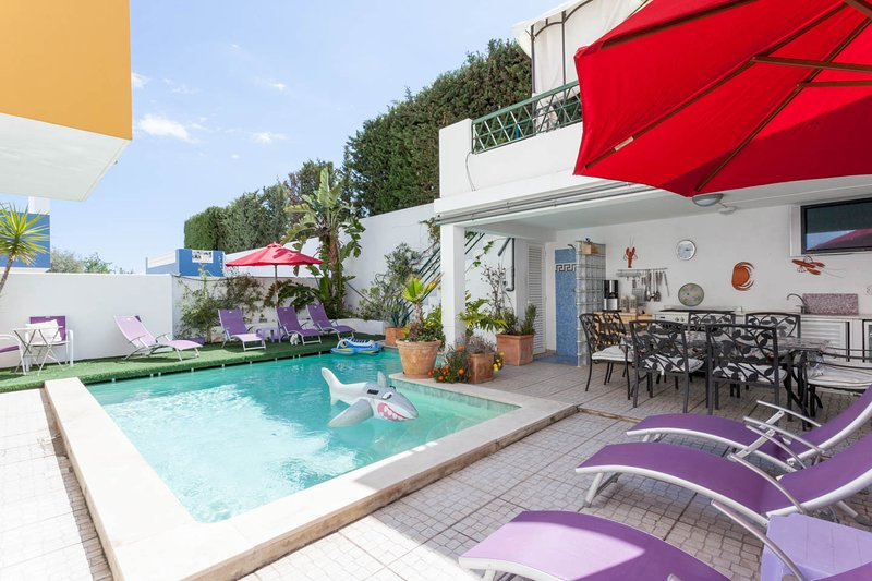 piscine et repas en plein air