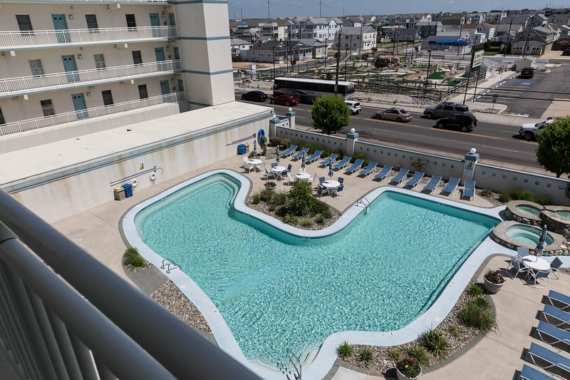 Large heated pool and hot tub -open from Memorial Day weekend to late September