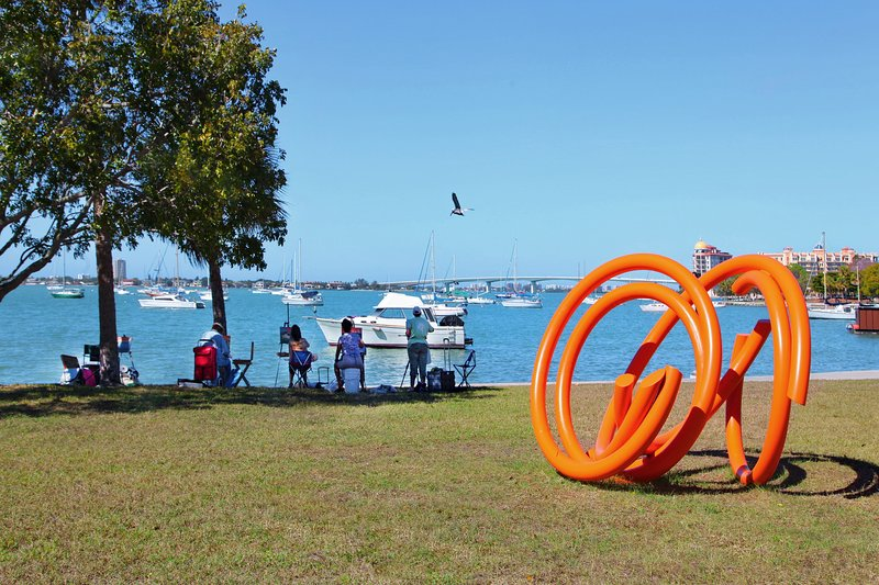 The Bayfront Park displays a new and fascinating sculpture exibit every year!