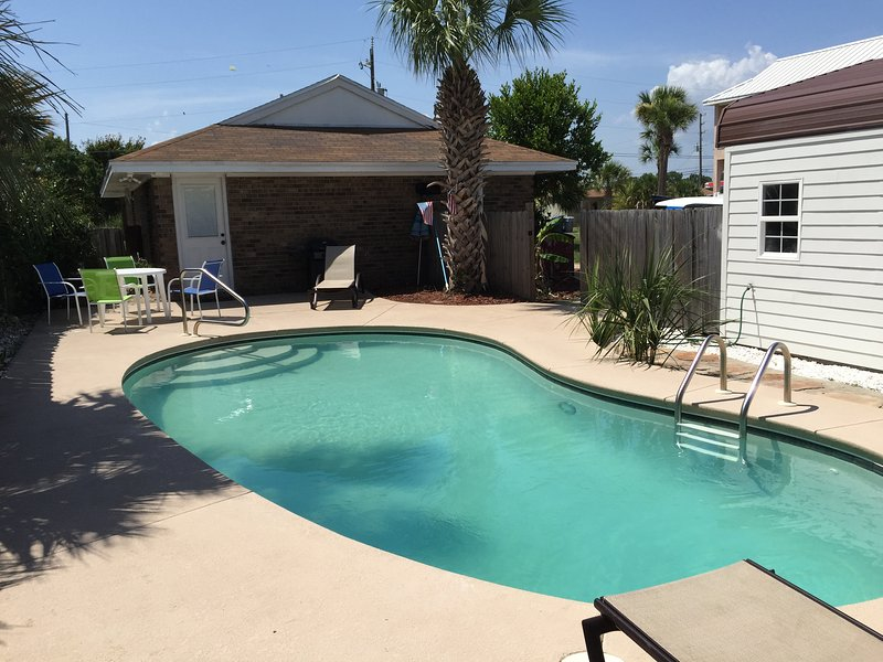 Private Pool - Approximately 30ft by 15ft.  Pool Service is Included.