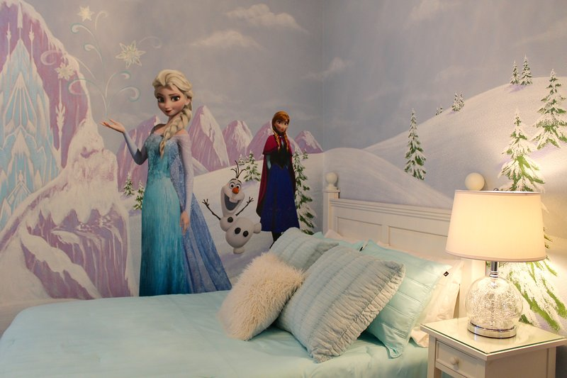 Frozen theme room with two Double Beds and private bath