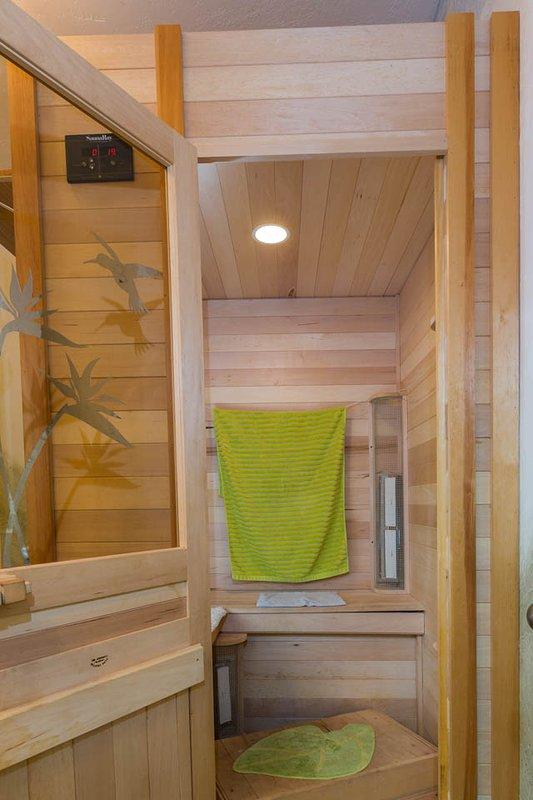 2 plazas, sauna de infrarrojos en el baño