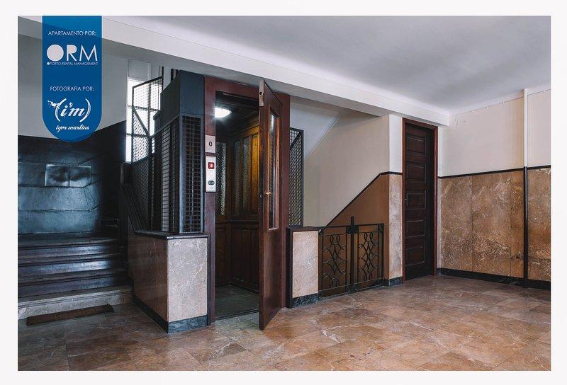 Building entrance + Elevator