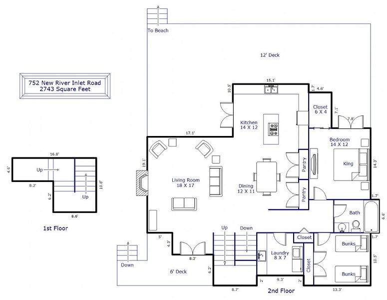 Floor Plan 1st & 2nd floor