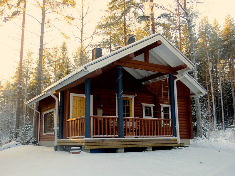 Ski log cabin to rent in Koli, holiday rental in North Karelia