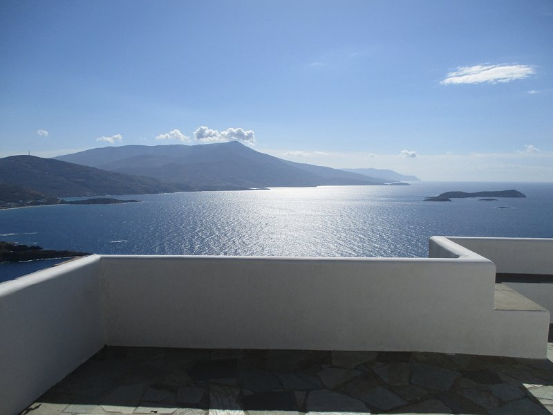 The panoramic view of the sea from the main veranda of the Villa.