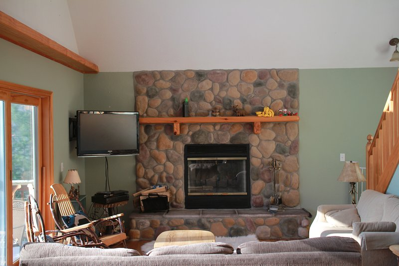 Beautful Stone Fireplace