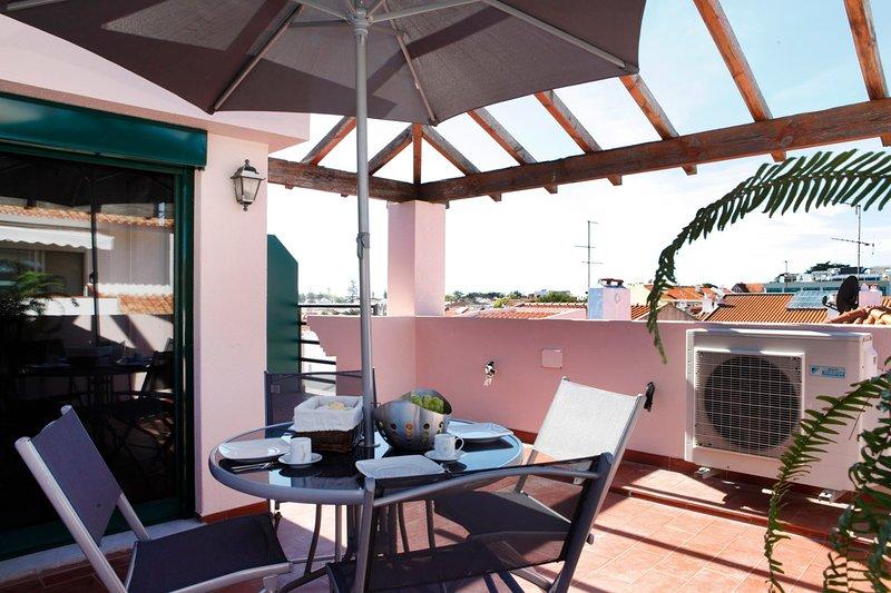 Wondrous terrace apartment in Cascais center