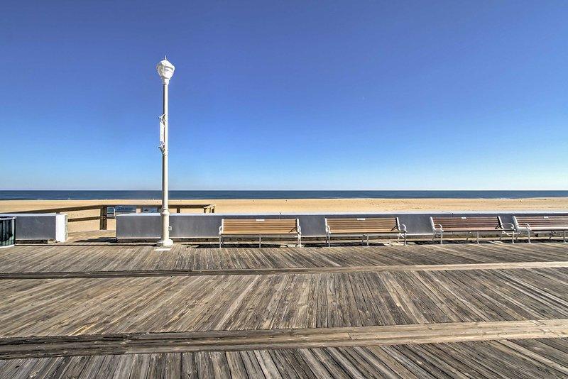 Explore the Ocean City Boardwalk for souvenirs.